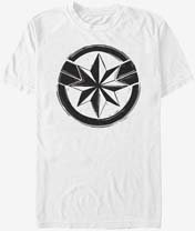 Captain Marvel Woodcut T Shirt