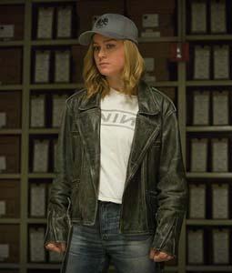 Carol Danvers Black Motorcycle Jacket