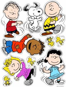 Classic Peanuts Character Clings