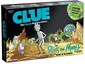 Clue Rick And Morty Edition Board Game