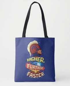 Customizable Captain Marvel Higher Further Faster Tote Bag