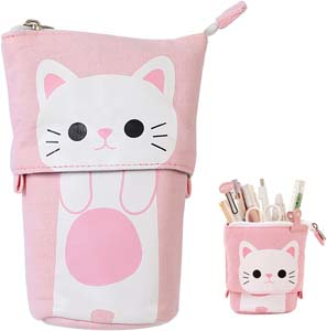 Cute Pink Pencil Pouch Bag