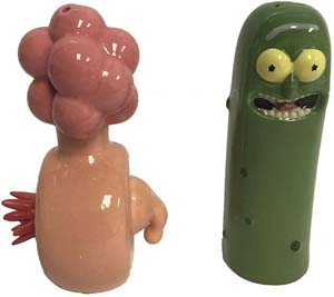 Distributing Rick And Morty Pickle Rick Plumbus Salt And Pepper Shaker Figure Set