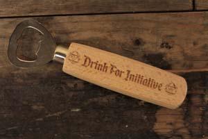 Drink For Initiative Wooden Handled Bottle Opener