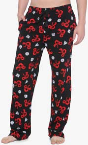 Dungeons And Dragons Black And Red Pajama Pants