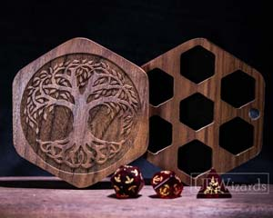 Engraved Walnut Dandd Gaming Dice Box