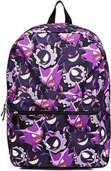Gengar Evolution Print Purple Backpack School Bag