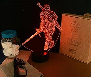 Geralt Of Rivia Led 3d Lamp