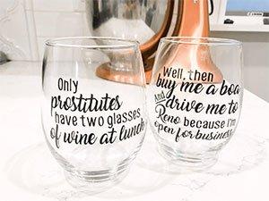 Gilmore Girls Wine Glasses