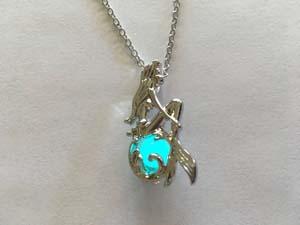 Glow In The Dark Little Mermaid Necklace
