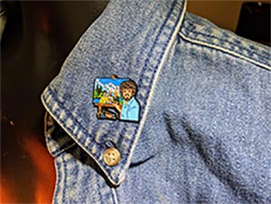 Golden Girls Bob Ross Pin