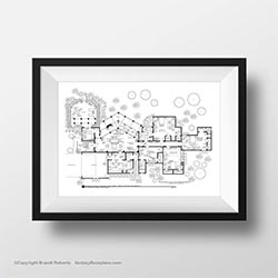 Golden Girls House Floorplan Wall Art
