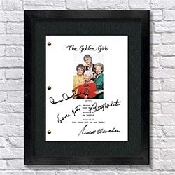 Golden Girls Signed Script
