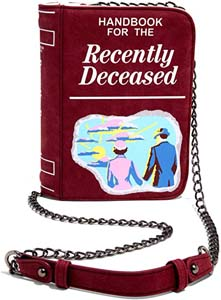 Handbook For The Recently Deceased Book Shaped Bag