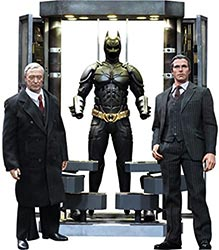 Hot Toys Batman The Dark Knight Movie Masterpiece Batman Armory With Bruce Wayne & Alfred Pennyworth 1 6 Collectible Figure Set