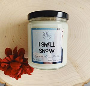 I Smell Snow Scented Candle