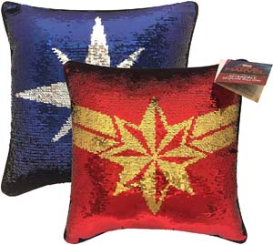 Jay Franco X Captain Marvel Reversible Sequin Decorative Pillow