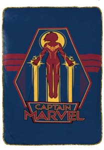 Jay Franco X Captain Marvel Taking Off Blanket