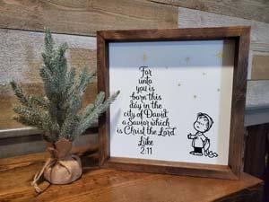 Linus Christmas Plaque