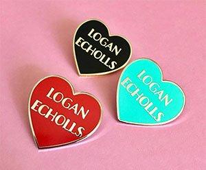 Logan Echolls Heart Lapel Pin