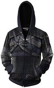 Mucloth White Wolf Geralt Of Rivia Zip Up Hoodie