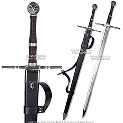 Medieval Gears 49 Geralt Sword Steel Blade Replica With Scabbard