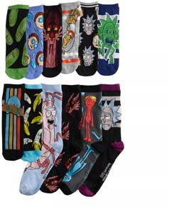 Mens 12 Days Of Socks Rick And Morty