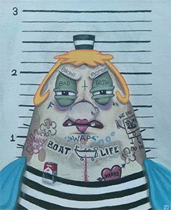 Mrs. Puff Goes To Prison Again Print On Demand