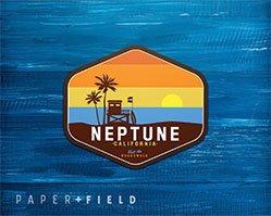Neptune California Patch Sticker