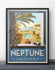 Neptune California Travel Poster