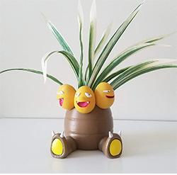 Oneshot3d Exeggutor Planter Flower Pot