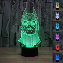 Padaday 3d Batman Bulbing Illusion Color Changing Light