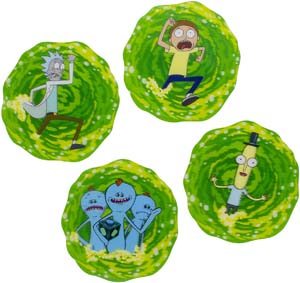 Paladone Rick And Morty 3d Set Of 4 Drink Coasters