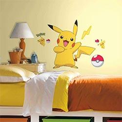 Peel And Stick Pikachu Wall Stickers