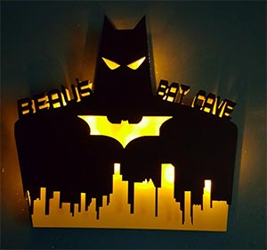 Personalized Batman Light Up Sign