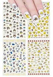 Pokemon Gudetama Totoro And Doramon Nail Stickers