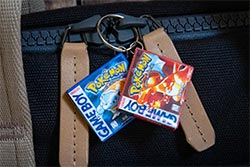 Pokemon Red And Blue Gameboy Cartridge Keychains