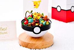 Pokemon Terrarium With Pikachu Charmander Bulbasaur Squirtle