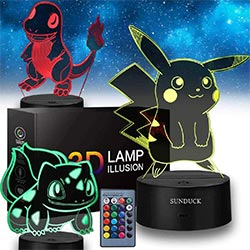 Pokemon Toys 3d Illusion Lamp Night Light