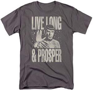 Popfunk Star Trek Live Long And Prosper Spock T Shirt & Stickers