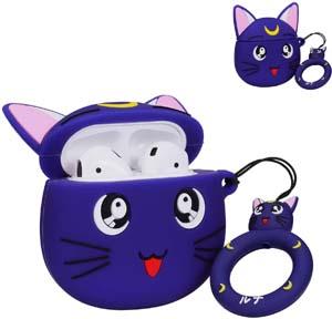 Purple Luna Airpods Case