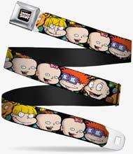 Rugrats Character Faces Close Up Seatbelt Belt