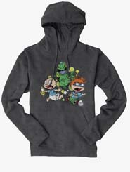 Rugrats Tommy And Chuckie Run From Reptar Hoodie