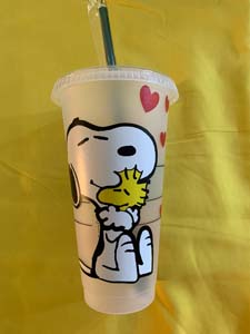 Reusable Snoopy Starbucks Cups