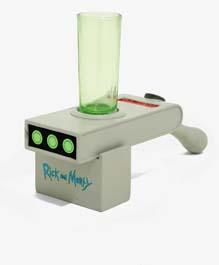 Rick And Morty Portal Gun Mini Glass
