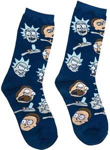 Rick And Morty Socks Adult Mens Size 6 12 Adult Swim