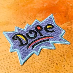 "Rugrats Title Card Font ""dope"" Patch"