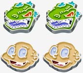 Rugrats Tommy & Reptar Stud Earrings