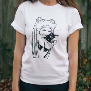 Sailor Moon Anime Shirt Usagi Luna
