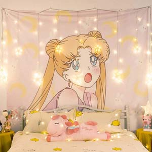 Sailor Moon Lovely Bedroom Tapestry